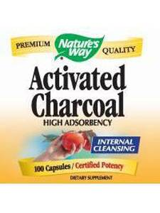 Nature's Way, ACTIVATED CHARCOAL 560 MG 100 CAPS