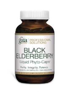 Gaia Herbs (Professional Solutions), BLACK ELDERBERRY PRO 60 VCAPS