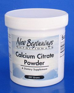 New Beginnings Calcium Citrate Powder - 16oz