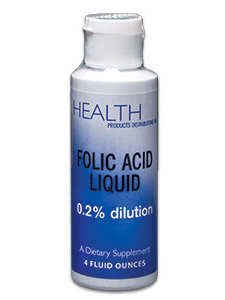 Health Products Distributors, FOLIC ACID LIQUID 100 MCG 4 OZ