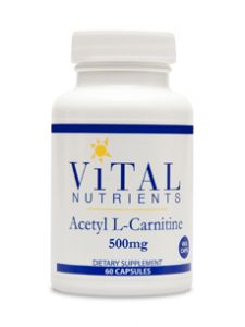 Vital Nutrients, ACETYL L-CARNITINE 500 MG 60 VCAPS